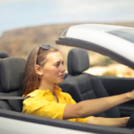 Lady Driving in a Car